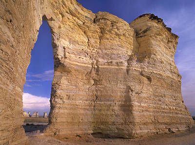 Monument Rocks Of Kansas Photograph - Arch In Monument Rocks National by Tim Fitzharris