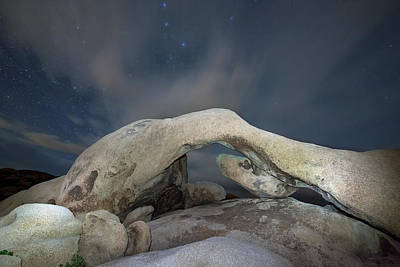 Arches National Monument Photograph - Arch Rock With Stars, Joshua Tree National Park by Daniel Osterkamp
