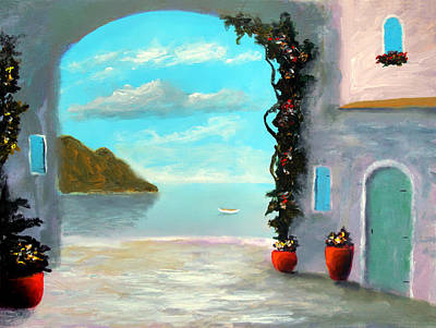 Coastal Art Painting - Arch To The Sea by Larry Cirigliano