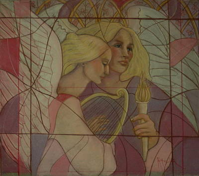 Painting - Archangel And Faith by Pamela Mccabe