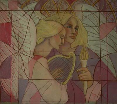 Archangel And Faith Art Print