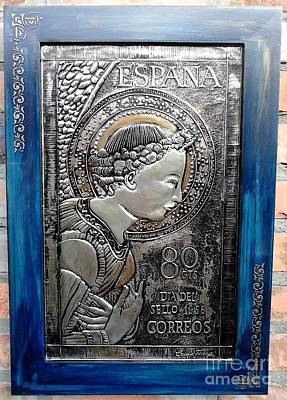 Metal Embossing Relief - Archangel Gabriel by Cacaio Tavares