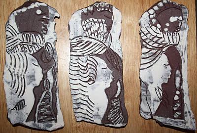 Ceramic Art - Archangels by Gloria Ssali