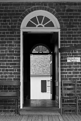 Arched Doors Appomattox Virginia Art Print by Teresa Mucha