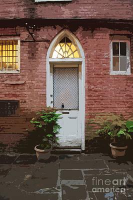 Digital Art - Arched Doorway French Quarter New Orleans Cutout Digital Art by Shawn O'Brien