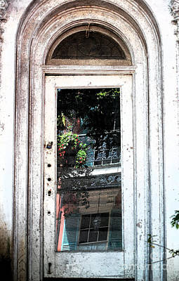 Digital Art - Arched Doorway French Quarter New Orleans Ink Outlines Digital Art by Shawn O'Brien