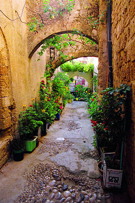 Photograph - Arched Passageway-rodos by John Galbo