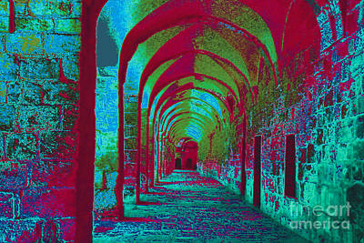 Photograph - Arched Walkway Surreal Reality by Merton Allen
