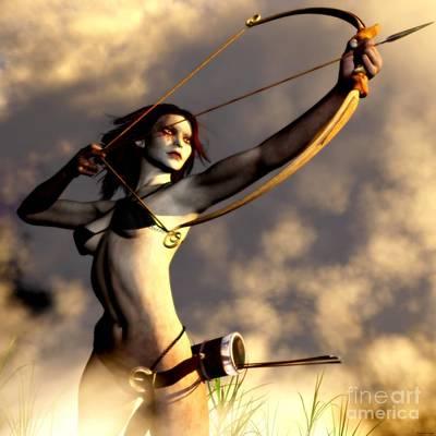 Elven Digital Art - Archer Of Eoris by Gabor Gabriel Magyar - Forgottenangel