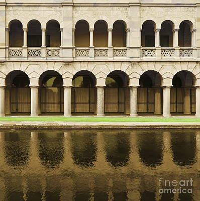 Carving In Stone Photograph - Arches And Columns Reflected In Water by Dave & Les Jacobs