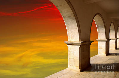 Geometrical Photograph - Arches At Sunset by Carlos Caetano