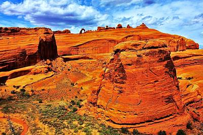 Photograph - Arches Canyon by Benjamin Yeager