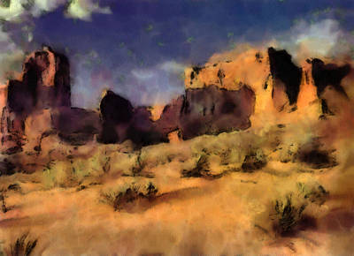 Arches National Monument-utah Art Print by Elaine Frink
