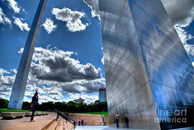 Jefferson Memorial Digital Art - Archgrounds by Bradley  Blackburn