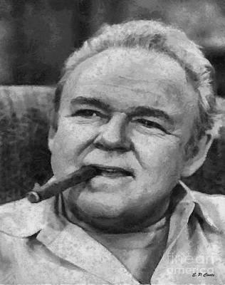 Archie Bunker Oil Painting - Archie Bunker by Elizabeth Coats