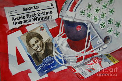 Heisman Trophy Winners Painting - Archie Griffin by Bill Dinkins