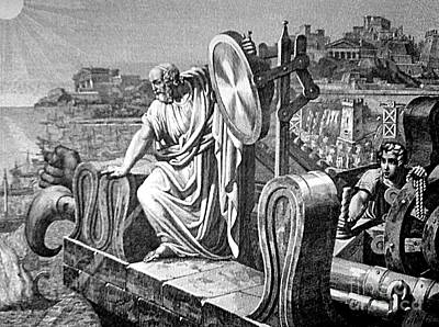 Archimedes Heat Ray, Siege Of Syracuse Art Print by Science Source