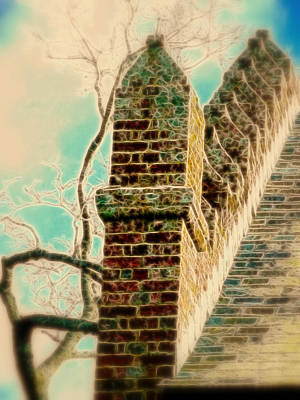 Architectural Art Art Print by Cindy Wright