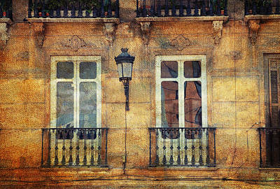 Photograph - Architectural Details Of Malaga Buildings. Spain by Jenny Rainbow