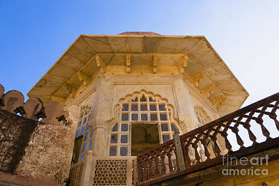 Architectural Details Of The Amber Fort Art Print by Inti St. Clair
