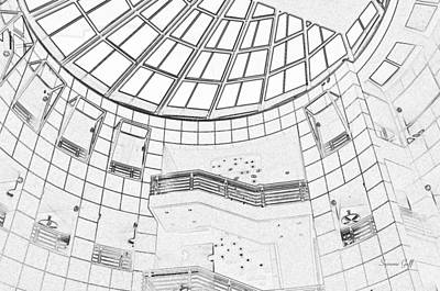 Library Digital Art - Architectural Diary by Suzanne Gaff