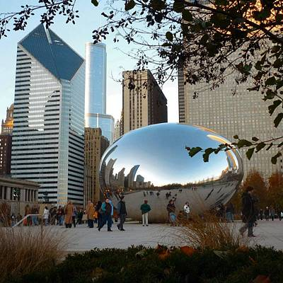 Photograph - Architecture Chicago Cloud Gate by William OBrien