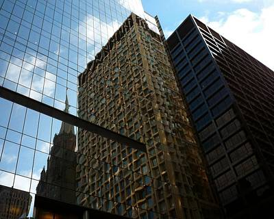 Photograph - Architecture Chicago Is A Blur Of Steel And Blue by William OBrien