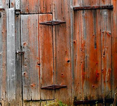 Photograph - Architecture Double Barn Doors by William OBrien