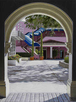 Hyper Realism Painting - Archway In Sunlight by Tony Chimento
