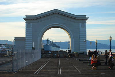 Archway Pier 39 San Francisco Art Print by Richard Adams