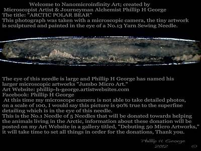 Nanomicroinfinity Art Painting - Arctic Polar Bear  by Phillip H George