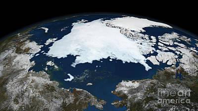 Photograph - Arctic Sea Ice, 2008 by NASA Goddard Space Flight Center Scientific Visualization Studio