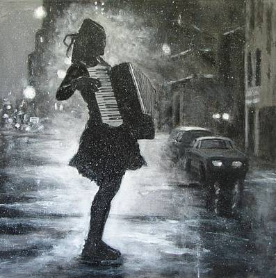 Accordian Painting - Are My Lessons Done? by Nikki Rosetti