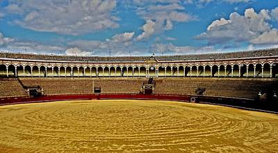 Traditionell Photograph - Arena De Toros - Sevilla by Juergen Weiss