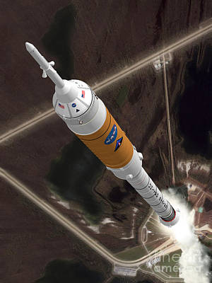 Ares I Launch Print by Nasa