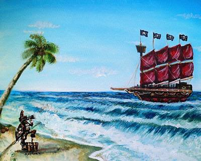 Painting - Argh 'bout Time Mateys by Shana Rowe Jackson