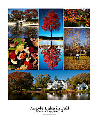 Argyle Lake Fall Poster Art Print by Vicki Jauron