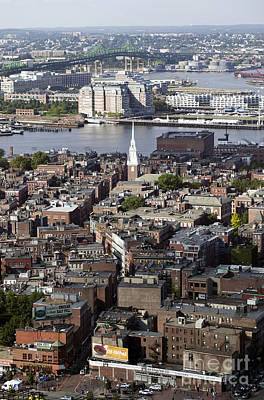Aerial View Of Boston's North End And The Tobin Bridge Original