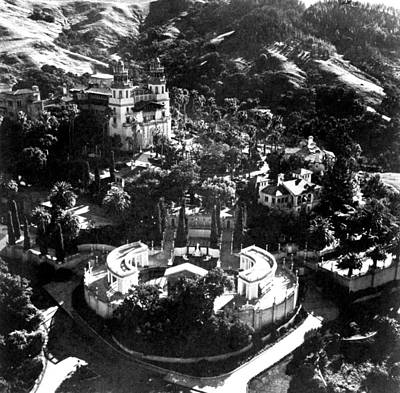 Arial View Of Hearst Castle, San Art Print by Everett
