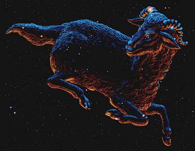 Aries Art Print by Chris Butler