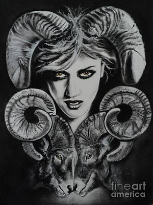 Drawing - Aries The Ram by Carla Carson