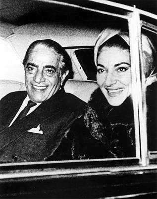 Aristotle Onassis And Maria Callas Print by Everett
