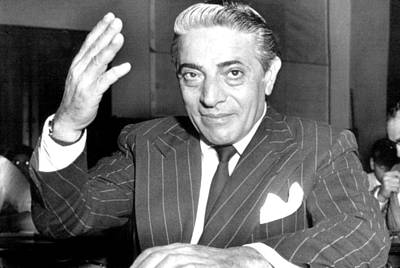 Aristotle Onassis At A Congressional Print by Everett