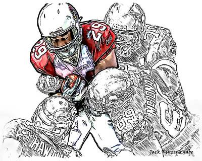 Arizona Cardinals Chester Taylor Seattle Seahawks David Hawthorne Clinton Mcdonald And Red Bryant Art Print by Jack K