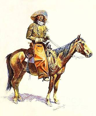 Painting - Arizona Cowboy by Roberto Prusso