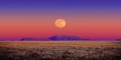 Arizona Full Moon Art Print