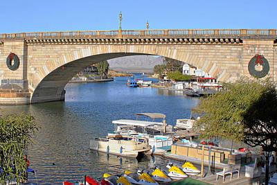 Water Scene Photograph - Arizona Import - Iconic London Bridge by Christine Till