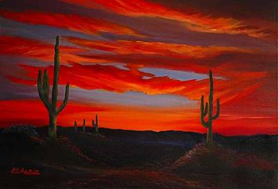 Arizona Sunset Art Print by Tom McAlpin