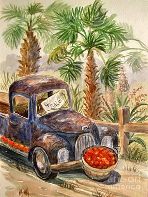 Rusty Truck Painting - Arizona Sweets by Marilyn Smith