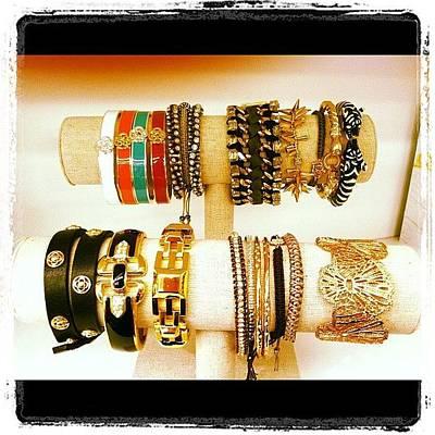 Jewelry Wall Art - Photograph - #armparty Of #bracelets @stelladot by Mariana L